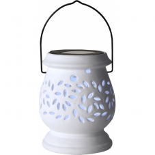 Садовый светильник Фонарик керамический Solar energy, белый