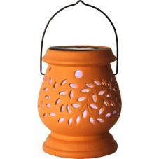 Садовый светильник Фонарик керамический Solar energy, оранжевый