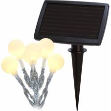 Гирлянда садовых светильников GLOBINI Solar energy, 6,75 м, белый