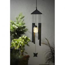 Садовый светильник МУЗЫКА ВЕТРА  Solar energy, 77 см, черный