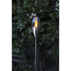 Садовый светильник TOULON Solar energy, 110 см,  цвет - сталь