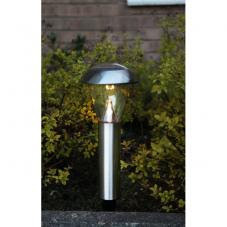 Садовый светильник NAPOLI Solar energy, диаметр 15,5 см, высота 36 см,  цвет - сталь