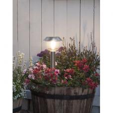 Садовый светильник FILLE Solar energy, диаметр 12,5 см, высота 30 см,  цвет - сталь