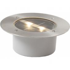Садовый светильник DECKLIGHT Solar energy, диаметр 12 см, высота 4,7 см, цвет - стальной