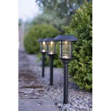 Садовые светильники на солнечных батареях FRIDE Solar energy, 3 штуки, диаметр 12.5 см, высота 34 см