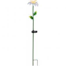 Садовый светильник на солнечных батареях DAISY, диаметр 15 см,  высота 77 см, теплый белый