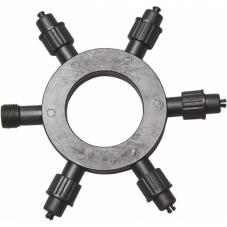 Кольцо-разветвитель на пять ответвлений, 20 см, черный, серия SYSTEM LED