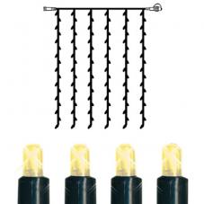 Гирлянда занавес-расширение, 102 лампочки, 1 метр, теплый желтый, серия SYSTEM EXPO