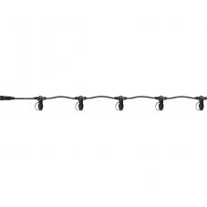 Провод - разветвитель на 5 разъемов, 15 метров, черный, серия SYSTEM 24