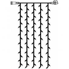 Гирлянда занавес-расширение, 1х2 м, теплый белый, серия SYSTEM DECOR