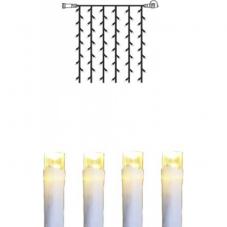 Гирлянда занавес-расширение, 1,0 х 0,8 м, теплый белый, серия SYSTEM DECOR