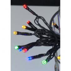 Гирлянда для улицы, 120 ламп, 8 режимов мигания, разноцветный, черный провод, серия SERIE LED
