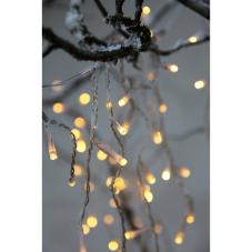 Гирлянда для улицы, 120 ламп, 8 режимов мигания, теплый желтый, белый провод, серия SERIE LED