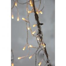 Гирлянда для улицы, 160 ламп, теплый желтый, прозрачный провод, серия SERIE LED