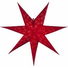 Звезда-подвес DECORUS без провода, 63 см, красный