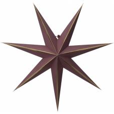 Звезда-подвес LYSA без провода, 60 см, красный с золотом