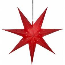 Звезда-подвес ALICE, 60 см, на батарейках, красный