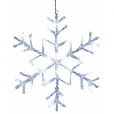 Подвес Снежинка ANTARCTICA, 40 см, холодный белый