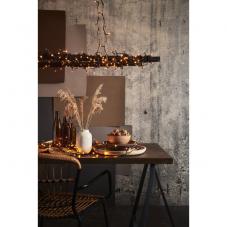 Гирлянда для улицы, 40 ламп, 2,8 м, золотистый теплый белый, черный провод, серия SERIE LED