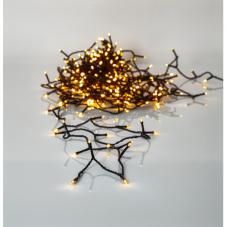 Гирлянда для улицы, 360 ламп, 25,2 м, золотистый теплый белый, черный провод, серия SERIE LED