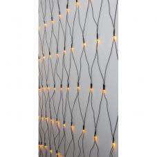 Гирлянда-сетка для улицы, 160 ламп, 2х2 м, золотистый теплый белый, черный провод, серия SERIE LED