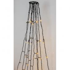 Гирлянда для флагштока FLAGPOLE_LIGHT, длина 7 м, 360 ламп, золотистый теплый белый, черный провод