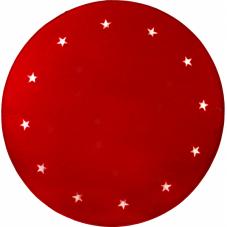 Коврик под елку, диаметр 100 см, 12 светодиодных звезд, красный