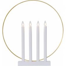 Светильник GLORY, 45 см, белый с золотом