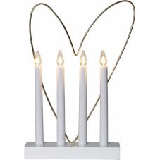 Светильник GLOSSY HEART, 37 см, белый с золотом