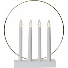 Светильник GLOSSY, 35 см, белый с золотом