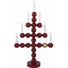 Светильник рождественский JULKUL, высота 73 см, ширина 42 см, красный