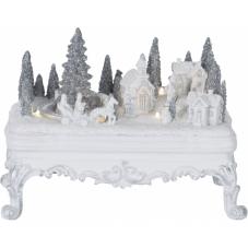 Светильник рождественский GLASGOW, 16.5 см, белый