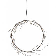 Светильник-подвес NIKE, 22 см, на батарейках, теплый белый, черный