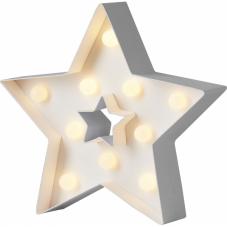 Звезда светящаяся PAPYRUZ на батарейках, 20 см, теплый белый