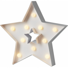 Звезда светящаяся PAPYRUZ на батарейках, 26 см, теплый  белый