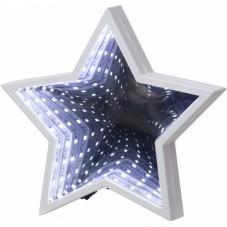 Светильник декоративный MIRROR LIGHT светодиодный LED на батарейках, 20 см