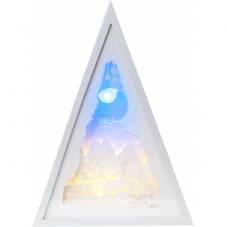 Светильник SCENERY на батарейках с таймером, высота 30,5 см, ширина 22 см, белый