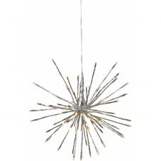 Светильник декоративный для улицы FIREWORK OUTDOOR с эффектом мигания, 40 см, серебрянный