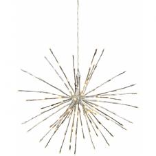 Светильник декоративный для улицы FIREWORK OUTDOOR с эффектом мигания, 60 см, серебрянный