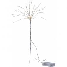 Светильник декоративный BOUQUET, на батарейках, 42 см, серебро