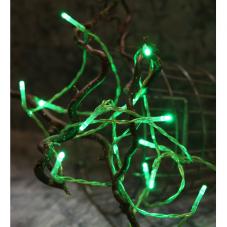 Гирлянда на батарейках, зеленая