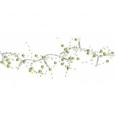 Гирлянда на батарейках Жемчуг, зеленая