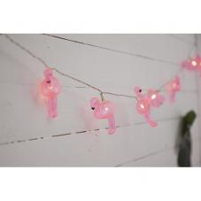 Гирлянда на батарейках FRUITY Фламинго, 2,3 м, розовый