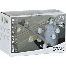 Гирлянда на батарейках METAL WATER CANS, 1,9 м, белый