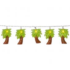 Гирлянда на батарейках FUNLIGHT пальмы, 1,9  м, коричнево-зеленый