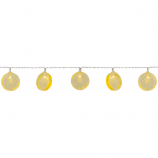 Гирлянда на батарейках FUNLIGHT, 1,35 м, прозрачный провод, желтый