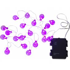 Гирлянда для улицы на батарейках OUTDOOR GLOBE LIGHT, 2,2 м, фиолетовый