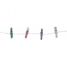 Гирлянда на батарейках CLIPPY с прищепками, 2,9  м, разноцветный