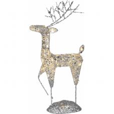 Фигура Олень SEQUINI, 68 см, серебряный