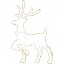 Силуэт Олень NEOLED, 96 см, теплый желтый